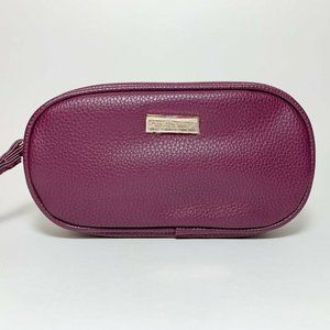 Bareminerals Magenta Faux Leather Cosmetic Bag
